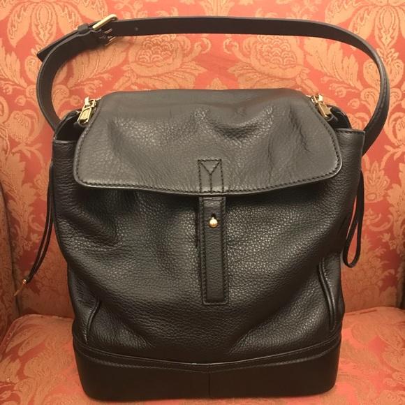 9e7a99eb32d2 Saint Laurent Sac Black Grained Leather Bag